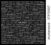 money. word collage on black... | Shutterstock .eps vector #57970507