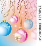 christmas balls   Shutterstock .eps vector #57970918