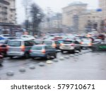 cars on the road in the city... | Shutterstock . vector #579710671