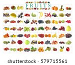 arrangement of fruit as... | Shutterstock . vector #579715561