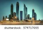 panoramic view of dubai... | Shutterstock . vector #579717055