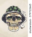 rastaman skull vector art....   Shutterstock .eps vector #579722665