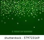 sparkling clover shamrock... | Shutterstock .eps vector #579723169