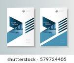 leaflet brochure flyer template ... | Shutterstock .eps vector #579724405