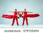the group of gymnastic... | Shutterstock . vector #579725494