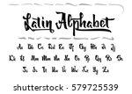 vector alphabet. calligraphic... | Shutterstock .eps vector #579725539