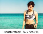 summer time  portrait fitness... | Shutterstock . vector #579726841