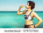 summer time  portrait fitness... | Shutterstock . vector #579727501
