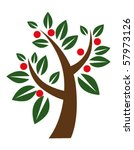 tree and apples | Shutterstock .eps vector #57973126