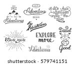 set of adventure and travel... | Shutterstock . vector #579741151