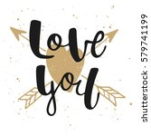 card with hand drawn unique... | Shutterstock . vector #579741199