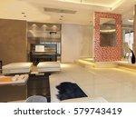 3d rendering home interior  | Shutterstock . vector #579743419