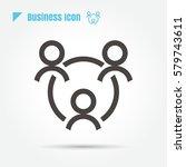 icon teamwork man style is flat ... | Shutterstock .eps vector #579743611