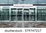 airport terminal building gate... | Shutterstock . vector #579747217