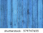 Old Wooden Painted Blue Rustic...