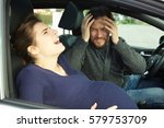 scared woman ready to give... | Shutterstock . vector #579753709