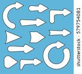 arrow set comics style | Shutterstock .eps vector #579754081