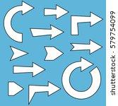 arrow set comics style | Shutterstock .eps vector #579754099