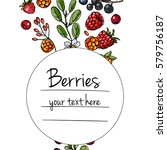 berries and leaves. wild... | Shutterstock .eps vector #579756187