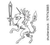 vector image of heraldic... | Shutterstock .eps vector #579763885