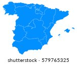spain blur map | Shutterstock .eps vector #579765325