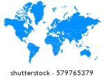 world blur map | Shutterstock .eps vector #579765379
