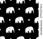 seamless pattern with stylized... | Shutterstock .eps vector #579767311