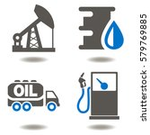 oil industry drilling... | Shutterstock .eps vector #579769885
