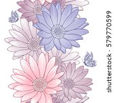 seamless floral pattern with... | Shutterstock .eps vector #579770599