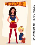 happy mothers day. super mother ... | Shutterstock .eps vector #579770689