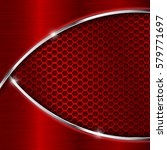 red perforated background with...   Shutterstock .eps vector #579771697