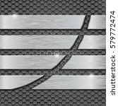 metal perforated background... | Shutterstock .eps vector #579772474