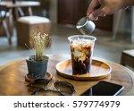 ice coffee with milk cream... | Shutterstock . vector #579774979