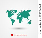 world map illustration vector | Shutterstock .eps vector #579776761
