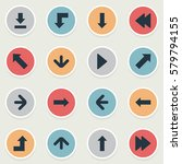 set of 16 simple indicator... | Shutterstock .eps vector #579794155