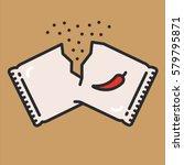 hot pepper powder paper pack...   Shutterstock .eps vector #579795871