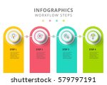 circle infographics elements... | Shutterstock .eps vector #579797191