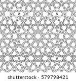 islamic line pattern.... | Shutterstock .eps vector #579798421