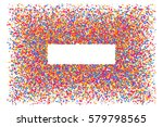 colored frame isolated on white ... | Shutterstock .eps vector #579798565
