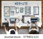 web template layout draft sketch | Shutterstock . vector #579801121