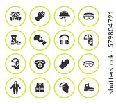 set round icons of personal... | Shutterstock .eps vector #579804721