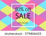 spring sale banner | Shutterstock .eps vector #579806425