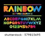vector of modern vibrant font... | Shutterstock .eps vector #579815695
