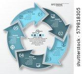 vector abstract 3d paper... | Shutterstock .eps vector #579818305