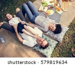 family picnic outdoors... | Shutterstock . vector #579819634