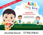 colorful kids summer camp... | Shutterstock .eps vector #579819841