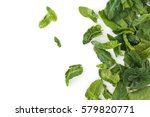 fresh spinach leaves. isolated...   Shutterstock . vector #579820771