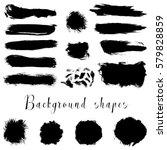 black ink borders  brush...   Shutterstock .eps vector #579828859