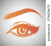 illustration with woman's eye... | Shutterstock .eps vector #579829675