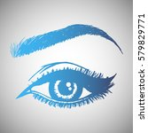 illustration with woman's eye... | Shutterstock .eps vector #579829771